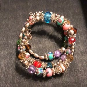 Jewelry - Colorful Beaded Coil Wrap Bracelet